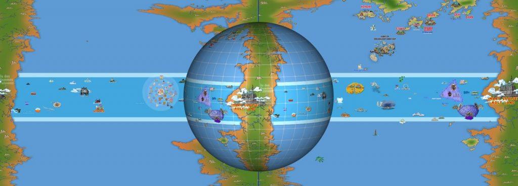 NEWS BLUE – One Piece Univers – News World Map 3D One Piece
